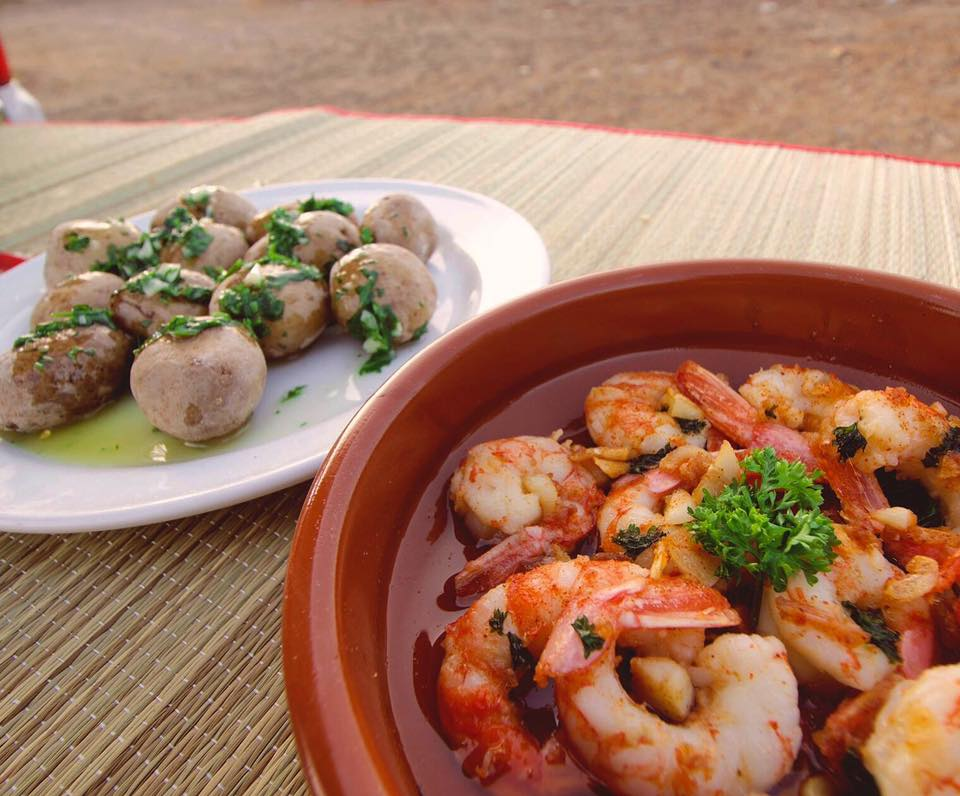 Prawns and Canarian Potatoes