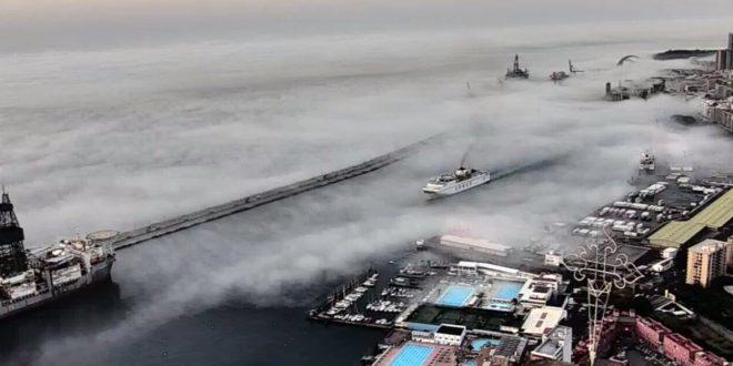 fog in santa cruz de tenerife